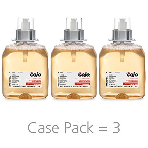 GOJO FMX-12 Luxury Foam Antibacterial Handwash, Fresh Fruit Fragrance, 1250 mL Hand Soap Refill for FMX-12 Push-Style Dispenser (Pack of 3) - 5162-03