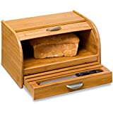 Honey-Can-Do KCH-01081 Bamboo Bread Box, Bamboo