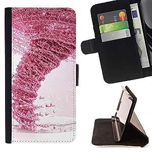 For Samsung ALPHA G850 Case , Diseño Rosa Tornado- la tarjeta de Crédito Slots PU Funda de cuero Monedero caso cubierta de piel