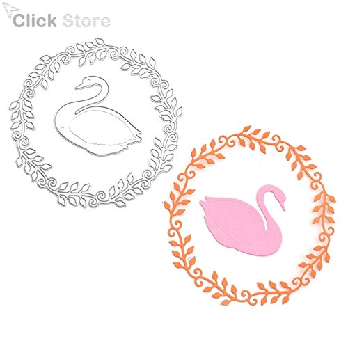 1 Set Swan Wreath Metal Cutting Dies Stencils DIY Scrapbooking - 2