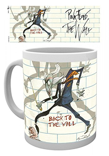 Pink Coffee Photo - Set: Pink Floyd, Roger Waters The Wall, Back To The Wall Photo Coffee Mug (4x3 inches) And 1x 1art1 Surprise Sticker