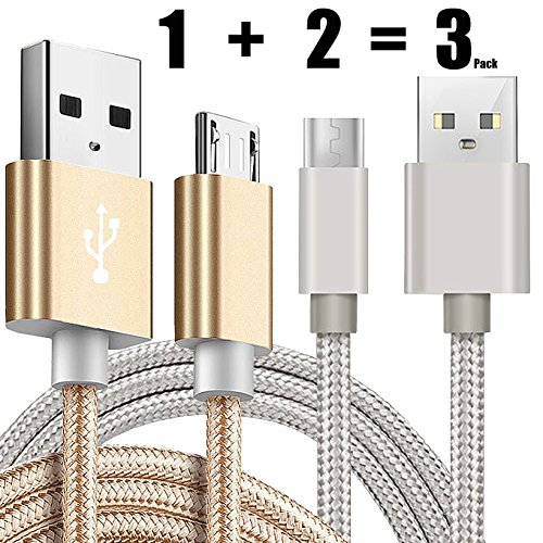 [3 Pack] Kindle USB Cable A Male to Micro B 5FT iBarbe Sync and Quick Charging Cable Cord Durable Charging Cable for Use with All Kindle Tablets and e-Readers