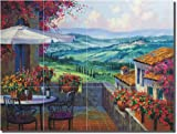 """Tuscany Forever"" by Mikki Senkarik - Ceramic Tile Mural 12.75"" x 17"" Kitchen Shower Backsplash"