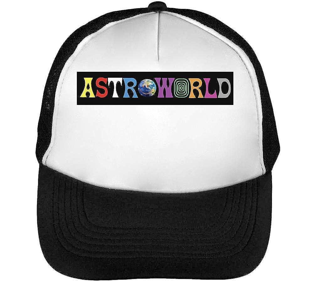 BakoIsland Astroworld Logo Cappello Snapback Nero Bianco
