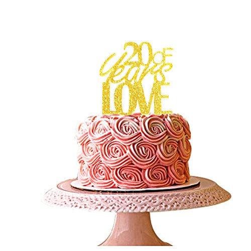 20-years-of-love-cake-topper-for-20th-anniversary-gold-acrylic