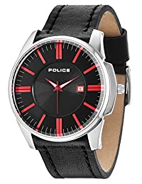 Police Governor Men's Wrist Watch, Black
