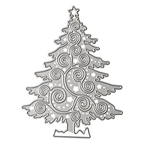 DIY Metal Scrapbook Cutting Dies - Embossing Stencil and Template for Kid's Creative Arts Crafts Supplies, Card Supplies, Wedding and Party Decorations (Christmas Tree)