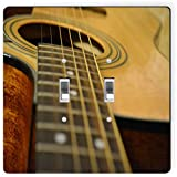 Rikki Knight 9103 Double Toggle Acoustic Guitar Design Light Switch Plate