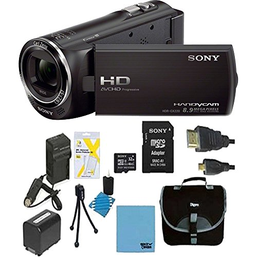 sony-hdrcx405-handycam-camcorder-bundle-with-micro-sd-card-battery-and-accessories-10-items