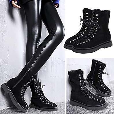 Amazon.com | HOESCZS Boots Martin Boots Short Boots Women