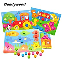Wooden Tangram/Jigsaw Board Cartoon Wooden toys Puzzle Jigsaw Kids Early Education educational Toys for children