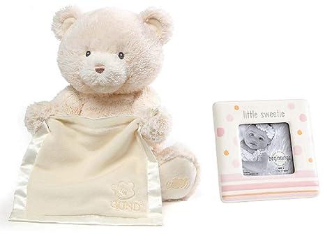 Amazon.com: GUND Animated Cream Teddy Bear Plays Peek A Boo with ...