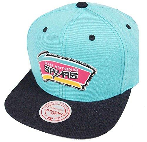 3ea53611e3450 Mitchell   Ness San Antonio Spurs Zig Zag BH78CX Snapback Cap Kappe Basecap  NBA