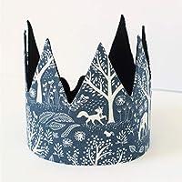 Woodland birthday Fabric crown