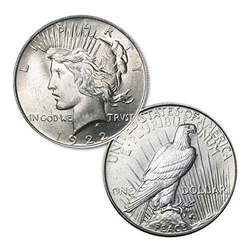 1922 P Peace Silver Dollar $1 Brilliant Uncirculated