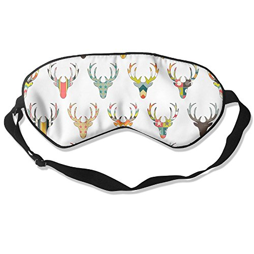 Silk Sleeping Mask Eye Deer Heads Lightweight Soft