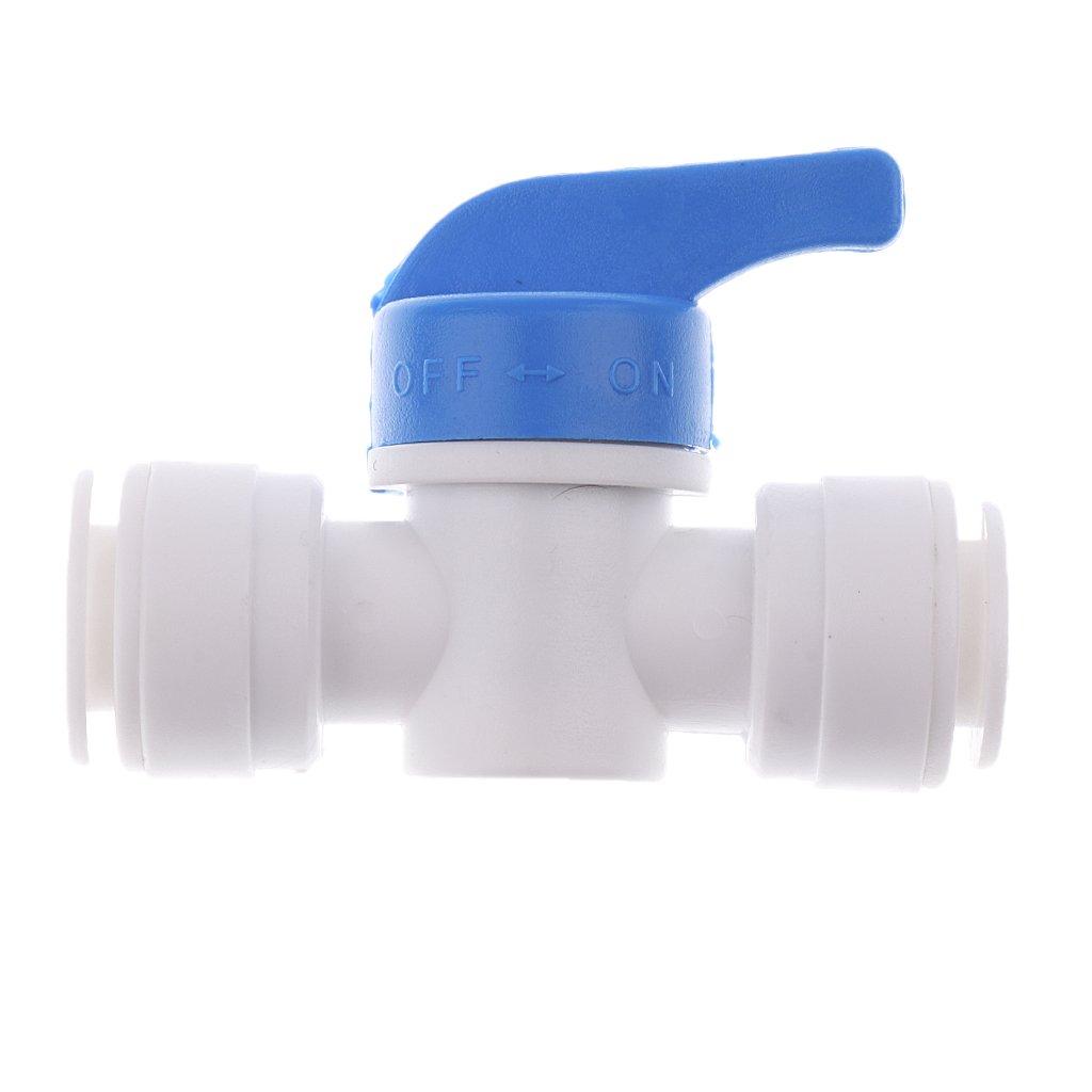 MagiDeal Set de 5 Piezas 1//4 Conexi/ón R/ápida Tubo Tecta de Agua sin Tuerca de Polioximetileno