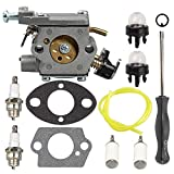Butom 309362001 309362003 Carburetor with Fuel Filter Line Adjustment Tool for Homelite UT-10560 UT-10562 UT-10564 UT-10566 UT-10568 UT-10569 UT-10580 35cc 38cc 42cc Chainsaw