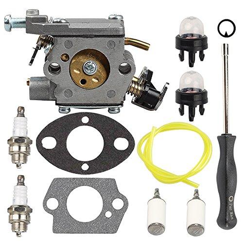 Butom 309362001 309362003 Carburetor with Fuel Filter Line Adjustment Tool for Homelite UT-10560 UT-10562 UT-10564 UT-10566 UT-10568 UT-10569 UT-10580 35cc 38cc 42cc Chainsaw by Butom