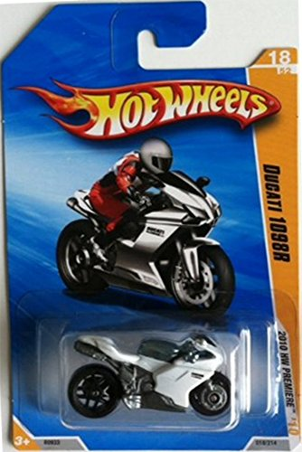 Hot Wheels 2010 NEW MODELS 17 OF 44 WHITE DUCATI 1098R MO...