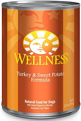 Wellness Complete Health Natural Wet Canned Dog Food Turkey Sweet Potato