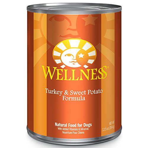 Complete Turkey - Wellness Complete Health Natural Wet Canned Dog Food, Turkey & Sweet Potato, 12.5-Ounce Can (Pack of 12)