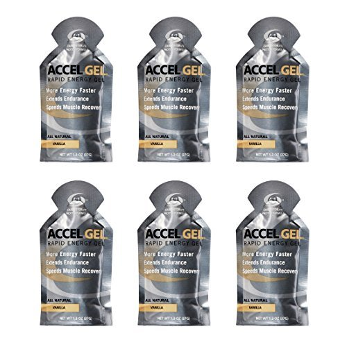 Accel Gel Rapid Energy Gel - Vanilla - 6 Pack (6 x 1.3oz Packs)