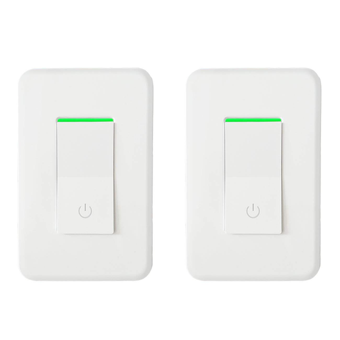 Likewise On Off Push Button Switch Circuit Timer Schematic Symbol Wifi Smart Light Wireless Wall Remote Control 2 Pack Compatible With Alexa Google Assistant Ifttt No Hub Required Single Pole Only