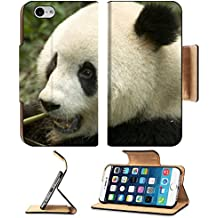 MSD Premium Apple iPhone 6 iPhone 6S Flip Pu Leather Wallet Case IMAGE ID: 4876112 close up eating big panda photo