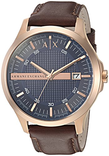 Armani Exchange Men's AX2172 Brown  Leather Watch (Leather Watch Men Armani)