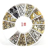 Nail Art Metal Slice Stickers Design Decoration Wheel for Nail Art