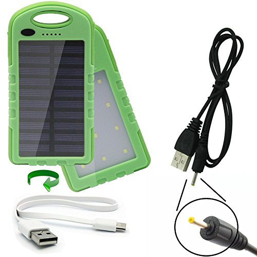 dual USB 2 Amp charge ports portable IP65 waterproof power bank 22Wh battery pack charger with solar trickle charge designed for the Jaybird Sportsband SB1