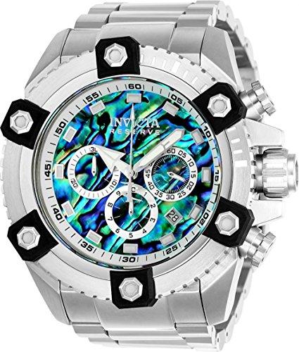 Reserve Men's 56mm Grand Octane Swiss Quartz Chronograph Abalone Dial Bracelet Watch () - Invicta 21875