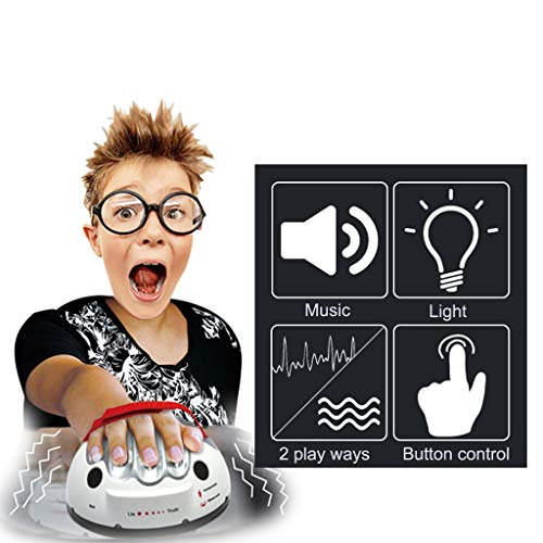 Karooch Miniature Polygraph Electric Shock Heartbeat Lie Detector Party Tidy Funny Warm-up Toy | Strap Adjustable and Reasonable Palm Design