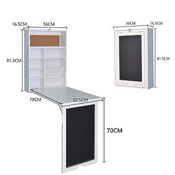 LRZZ Lazy Table-Folding Table Montado en la Pared Escritorio ...