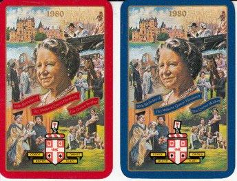 Queen Elizabeth 80th Birthday - 2 Single Swap Playing Cards Worshipful Company Queen Elizabeth's 80th Birthday