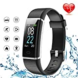 Lintelek Fitness Tracker, Color Screen Activity Tracker with Heart Rate Monitor(business black)