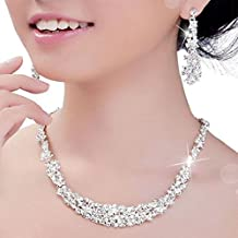 Willtoo(TM) Women Summer Crystal Jewelry Wedding Bridal Necklace+earrings Sets