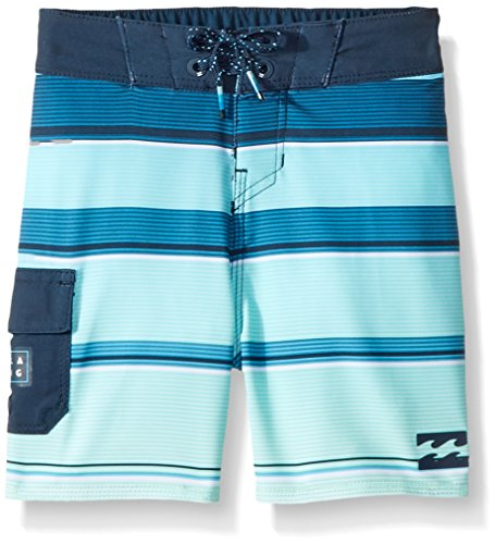 - Billabong Little Boys' Classic Stripe Boardshort, Green, 2T