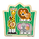 Melissa & Doug Jungle Friends Safari Animals Jumbo Knob Wooden Puzzle