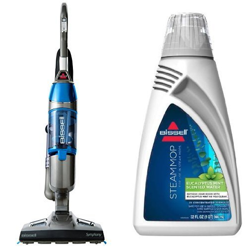 Refresh your Floors Bundle - Symphony Steam Mop + Eucalyptus Steam Mop Water, 32 oz by Bissell