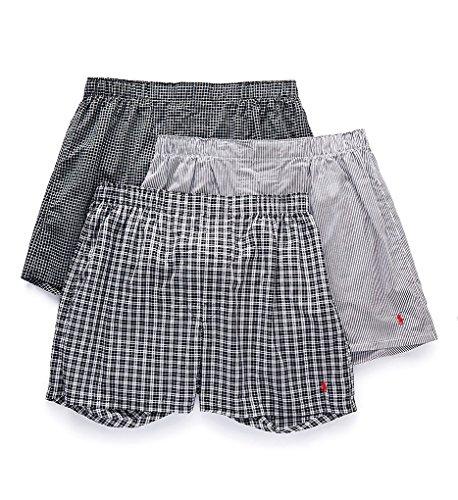 Polo Ralph Lauren Classic Woven Boxers 3-Pack, L, Bond Stripe (Shorts Ralph Boxer Lauren)