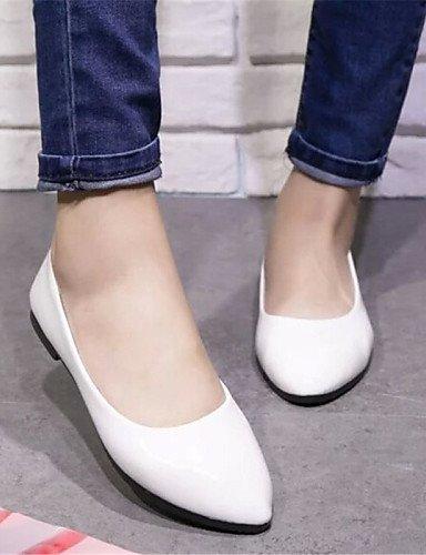 Viola White Bianco Giallo pelle Piatto Rosa libero Nero Ballerine Tempo Rosso Comoda Finta Blu Scarpe Donna Casual ShangYi Beige wHqx6p4H