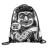 Wonderfly T-shirts And Hoodies - SaRa Company Fashion White Travel Backpack Polyester Drawstring Bag