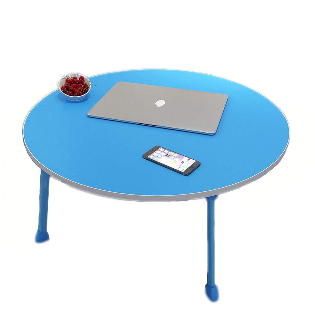 コンピュータデスクノートブック小型テーブルレイジーテーブルカレッジドミトリードミトリーデスクフラットベッドコンピュータデスク (色 : 青)  青 B07KW51W5H