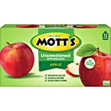 Mott's Unsweetened Applesauce, 3.2 oz pouches (Pack of 12)