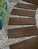 landscape stepping stones Gardener's Supply Company Recycled Rubber Railroad Tie Stepping Stone