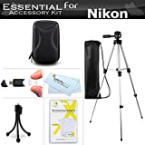 "Starter Accessories Kit For The Nikon Coolpix S9900, A900, S9700, AW130, S800c, S6300, S6200, S8200, S9300 P310 Digital Camera Includes Deluxe Carrying Case + 50"" Tripod With Case + Mini Tripod + More"