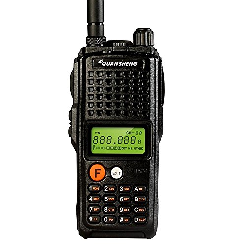 Quansheng K10AT 10-Watt Rechargeable Two-way Radios Long Range Walkie Talkies (400-470MHz UHF) Ham Amateur Radio with 4000mAh Large Battery