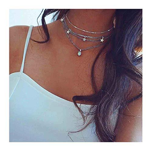Edary Boho Layered Necklace...